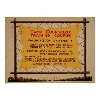 Vintage WPA Camp Poster