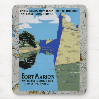 Vintage WPA Fort Marion Mouse Pad