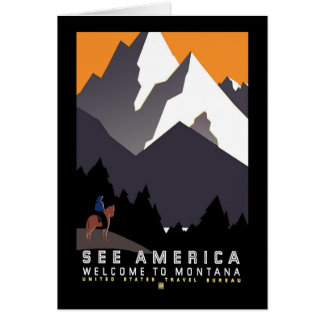 """Vintage WPA Montana Poster"" Greeting Card"