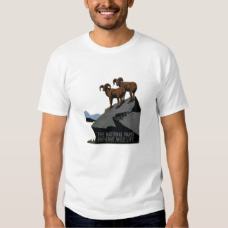 Vintage WPA National Parks T-Shirt: Rams on a Hil Tees