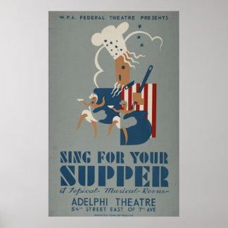 Vintage WPA Theatre Poster