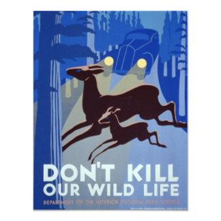 Vintage WPA | Wildlife Conservation Poster Card