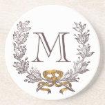 Vintage Wreath Personalised Monogram Initial