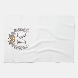 Vintage Wreath Personalised Tea Towel