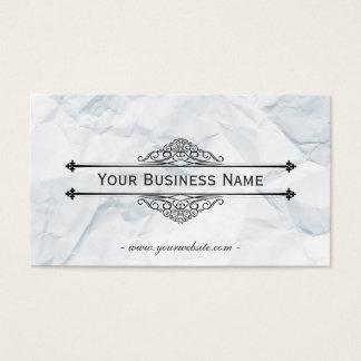 Vintage Wrinkled Paper Texture Business Card
