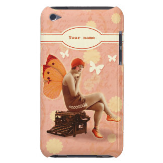 Vintage Writer Fairy with Typewriter Barely There iPod Covers