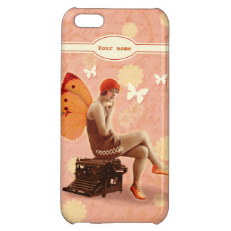 Vintage Writer Fairy with Typewriter iPhone 5C Cases