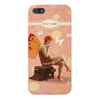 Vintage Writer Fairy with Typewriter Covers For iPhone 5