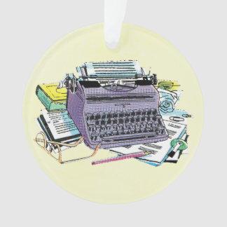 Vintage Writer's Tools Typewriter Paper Pencil