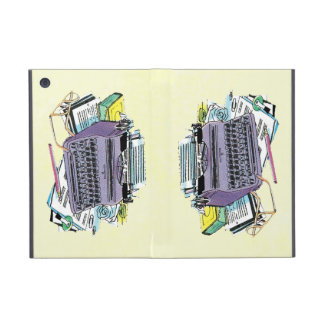 Vintage Writer's Tools Typewriter Paper Pencil Cover For iPad Mini