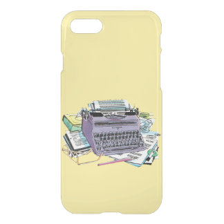 Vintage Writer's Tools Typewriter Paper Pencil iPhone 7 Case