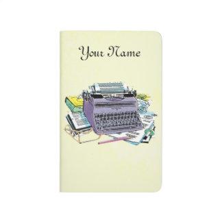Vintage Writer's Tools Typewriter Paper Pencil Journal