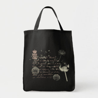 Vintage Writing Dandelion Tote Bag