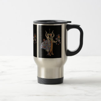 Vintage WW1 Art Deco Party Celebration Stainless Steel Travel Mug