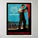 Vintage WW1 Emergency Fleet Patriotic Shipbuilders Poster
