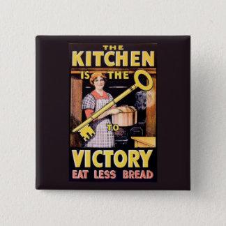 Vintage WW1 Food Rationing Kitchen 15 Cm Square Badge
