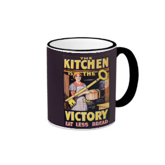 Vintage WW1 Kitchen is the Key to Victory Ringer Mug