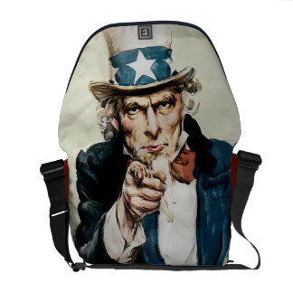 Vintage WW1 Patriotic Military Recruit Uncle Sam Commuter Bags