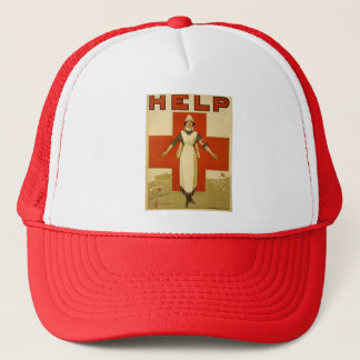 Vintage WW1 Red Cross Poster Cap
