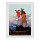 Vintage WW1 Student Nurse Recruitment Poster