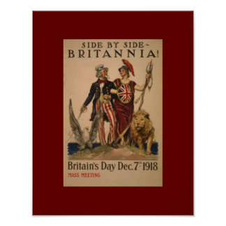 Vintage WW1Brittania Poster