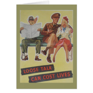 Vintage WW2 Birthday Card