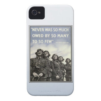 Vintage WW2 Churchill Quote Military Vets Case-Mate iPhone 4 Cases