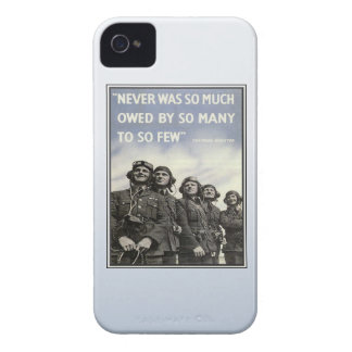 Vintage WW2 Churchill Quote Military Vets iPhone 4 Cover
