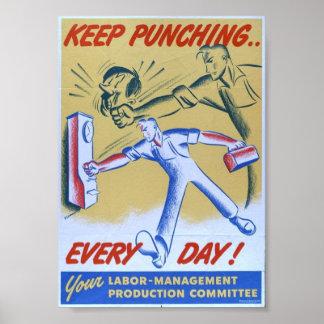 Vintage WW2 Propaganda Print