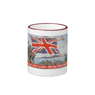 Vintage WW2 Propaganda Ringer Mug