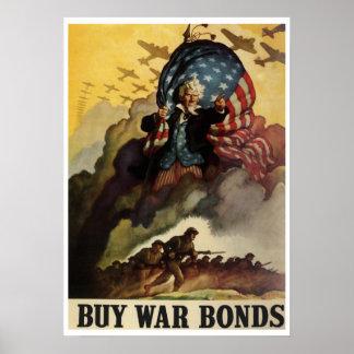 Vintage WW2 War Bonds Poster