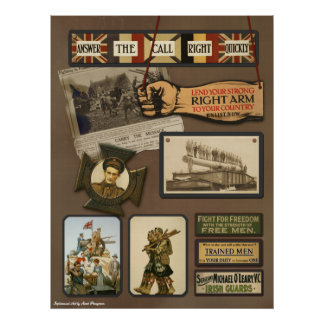 "Vintage WWI ""Allied Forces"" Scrapbook Print"