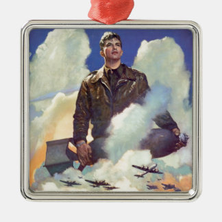 Vintage WWII Air Force Poster Design Christmas Ornament