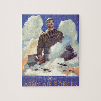 Vintage WWII Air Force Poster Design Puzzle