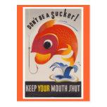 Vintage WWII American Propaganda Fish Postcards