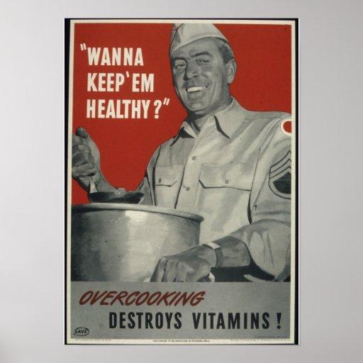 Vintage WWII american propaganda Poster