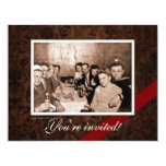 Vintage WWII Era Gathering 11 Cm X 14 Cm Invitation Card