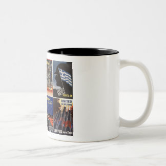 Vintage WWII posters Two-Tone Mug