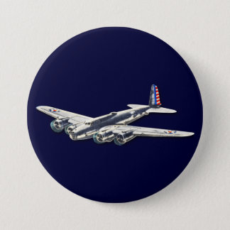 Vintage WWII US Aircraft 7.5 Cm Round Badge