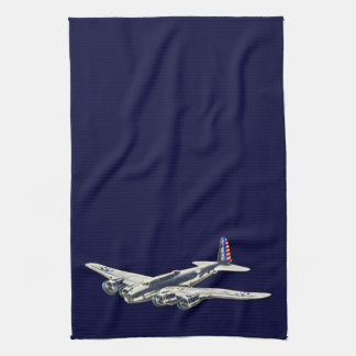 Vintage WWII US Aircraft Tea Towel