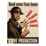 Vintage WWII War Poster Postcard