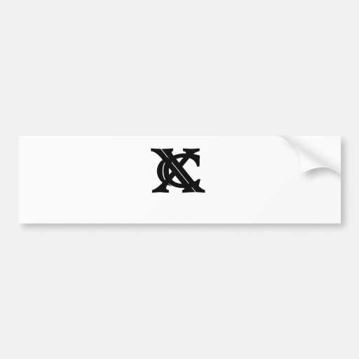 Vintage XC Cross Country Tee Shirt.png Bumper Sticker