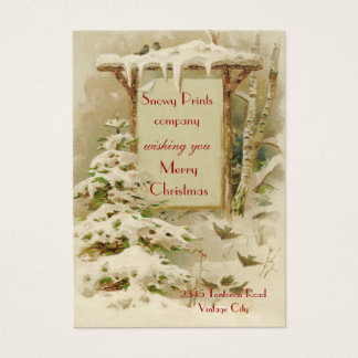 Vintage Xmas 1902 Business Card