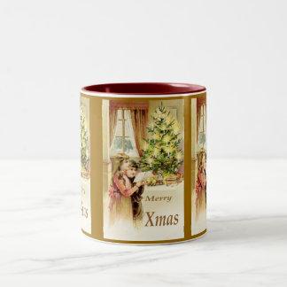 Vintage Xmas 1902 Coffee Mugs