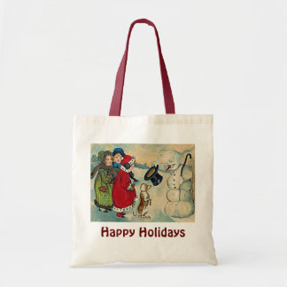 vintage xmas children tote bag