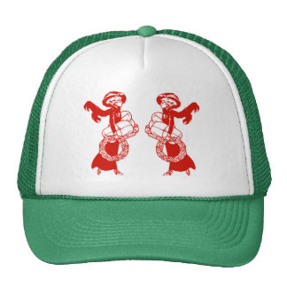 Vintage Xmas Shoppers Cap