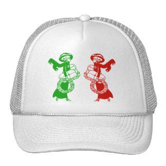 Vintage Xmas Shoppers Mesh Hats