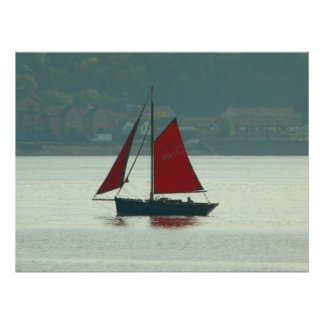 Vintage Yacht at Cardiff Bay Poster