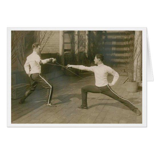 Vintage Yale Sabre Fencing! Fencing Note Card