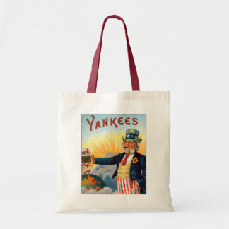 Vintage Yankees Cigar Label, Patriotic Uncle Sam Budget Tote Bag
